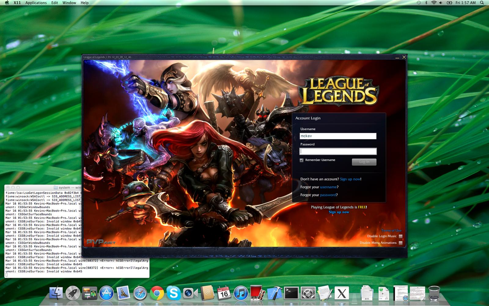 league of legends mac version