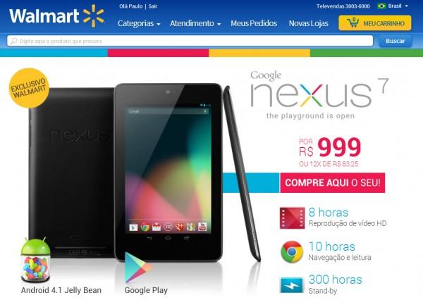 Oficial Nexus 7 começa a ser vendido no brasil por R$ 999