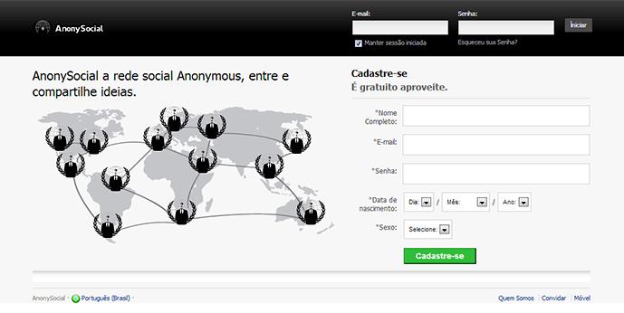 AnonySocial a rede social do grupo Anonymous