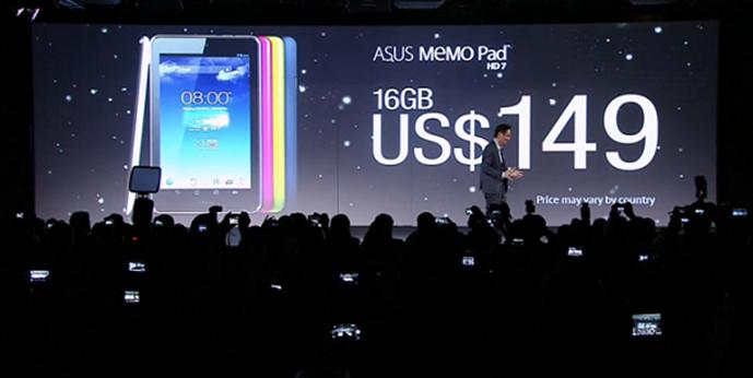 ASUS lança novo MeMo Pad com preço recomendado de US$ 129
