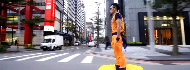Goku rides Kinto'un in Taipei